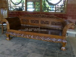 Bangko, Sofa Jati Ukir Macan size 80×180 Cm