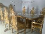 Kursi Meja Makan Ukir Jati Set 8 Raja Gendong