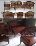 Furniture Ukir Kayu Jati Madura Kerawangan Kursi Tamu