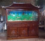 Aquarium Ukir Kayu Jati ( Bufet Aquarium)