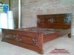 Tempat Tidur Dipan Majapahit Kayu Jati Minimalis Ukir Jepara Size 160x200Cm