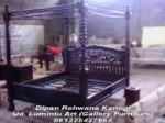 Dipan Tempat Tidur Rahwana kanopi Tiang Tonggak Kelambu Kayu Jati