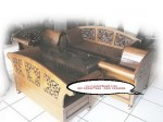 Kursi Tamu Madura Oval Kayu Jati Ukiran Jepara Mawar Set Kursi 3211