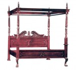 Dipan Tempat Tidur Kanopi Size 180×200 Cm Kayu Jati