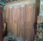 almari antik recycle kayu bekas ukiran jepara pintu 5