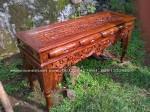 Meja Dinding, consule, altar ukiran Peluru kayu jati jepara