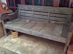 Mebel Antik Kayu Jati Bekas Recycle Bangko Bale- Bale Kuno