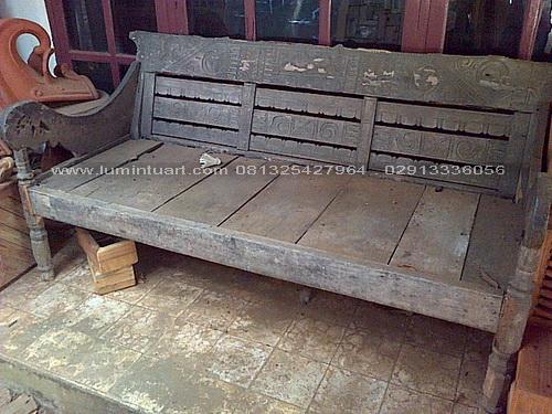 bangko bale-bale antik kayu jati bekas