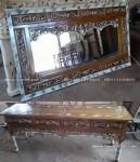 Meja Rias Altar Ulir Kayu Jati Ukiran Jepara Ukuran 180Cm