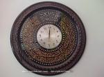 Jam Dinding Ukiran Jepara Kaligrafi Bundar Mebel Souvenir Jepara