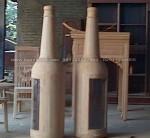 Nakas Botol Minimalis Kayu Jati Jepara