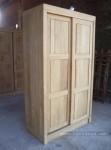 almari pakaian pintu geser sliding minimalis kotak pintu 2 kayu jati jepara