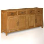 bufet minimalis polos laci 4 atas pintu 4 kayu jati jepara