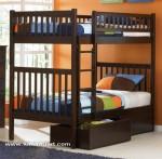 dipan,ranjang,tempat tidur tingkat susun minimalis jari Laci kayu jati jepara