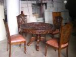 set meja kursi makan ukiran jepara kayu jati jepara ukiran prancis Set 4 Kursi