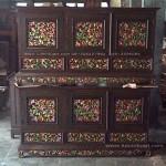 bufet palembang laci bawah ukiran kayu jati jepara motif