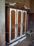almari pakaian pintu 3 kayu jati ukiran jepara type kdi