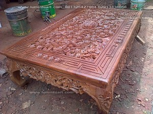 meja ketapang oshin kombinasi ukiran kayu jati jepara