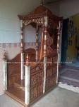 mimbar masjid mushola kayu jati ukiran jepara cat marmer
