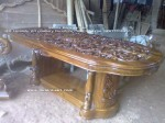 meja makan kayu jati jepara salina ukiran fuel kerawangan