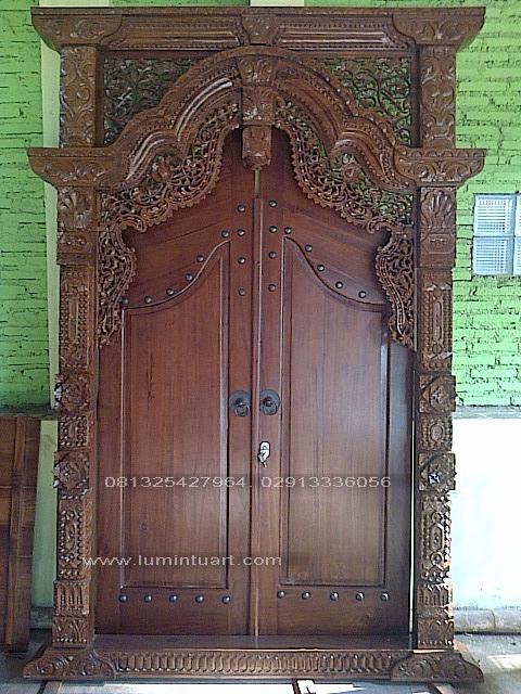 pintu kusen gebyok kayu jati ukir jepara mebel gebyok ...