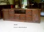 bufet kayu jati minimalis jepara 6 laci 2 pintu