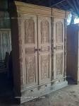 jual lemari almari gebyok fuel ukiran pintu 3 kayu jati jepara