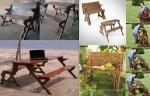 kursi meja multi fungsi double kayu jati minimalis jepara