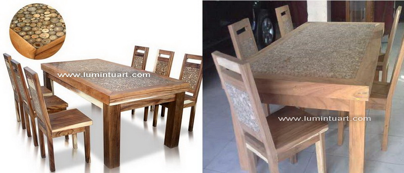 kursi meja makan koin set