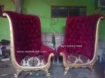 kursi putri kembar kayu jati ukiran jepara