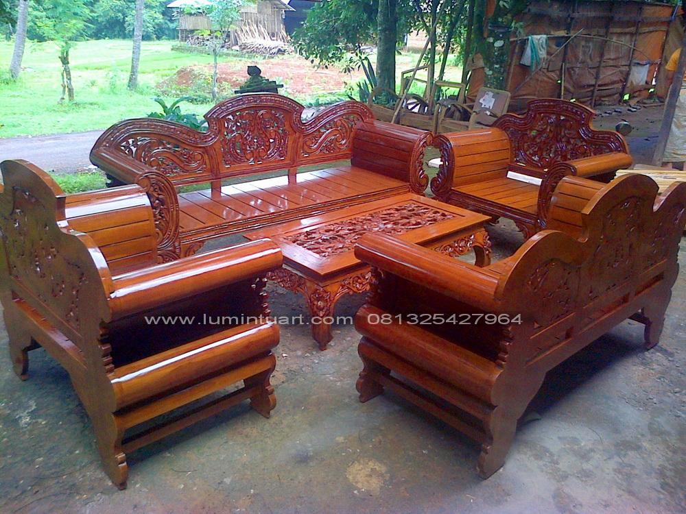 kursi tamu madura putri kayu jati ukiran jepara set