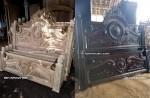 dipan,ranjang,tempat tidur kayu jati ukiran gong jepara size 180